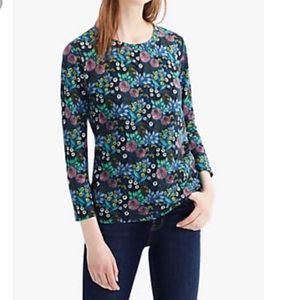 Abigail Borg J Crew Floral Cotton Top Size Large